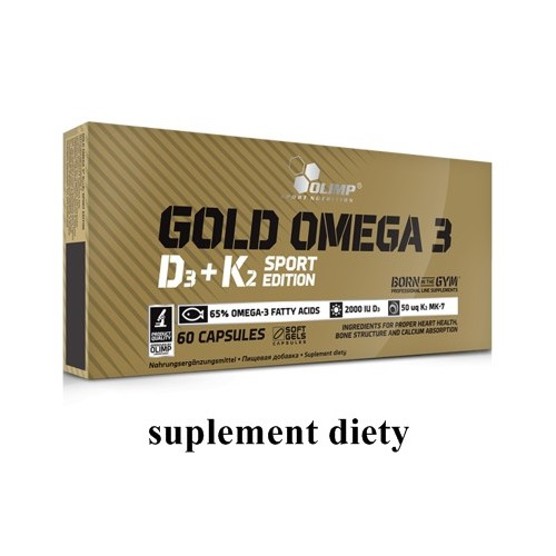 OLIMP Gold Omega 3 D3+K2 60caps