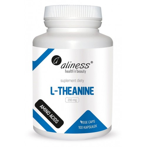 Aliness L-Theanine 200 mg 100 Vege caps.